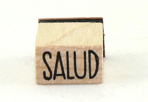 Salud Wood Mounted Rubber Stamp Inkadinkado