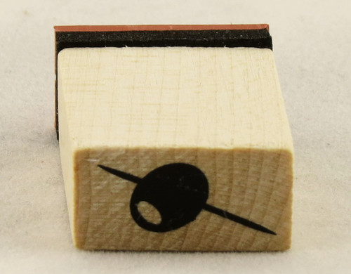 Olive Garnish Wood Mounted Rubber Stamp Inkadinkado
