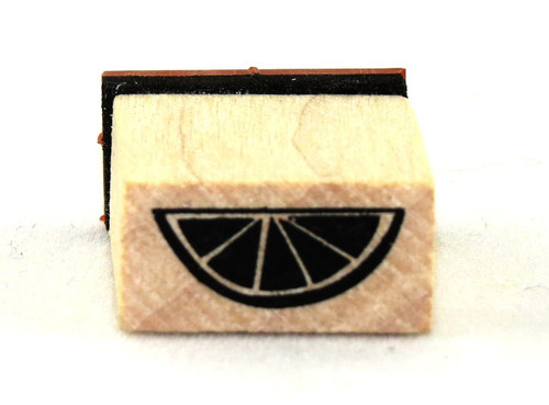 Fruit Wedge Wood Mounted Rubber Stamp Inkadinkado