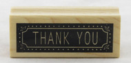 Thank You Wood Mounted Rubber Stamp Inkadinkado
