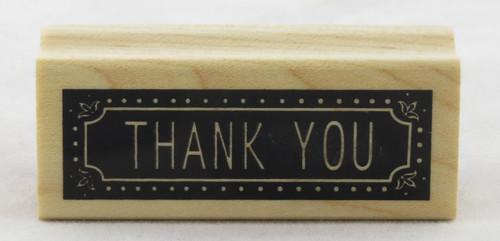 Thank You Wood Mounted Rubber Stamp Inkadinkado