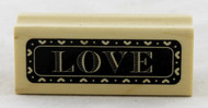 Love Wood Mounted Rubber Stamp Inkadinkado
