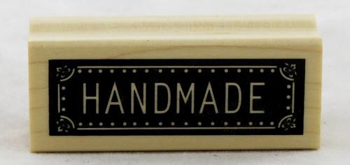 Handmade Wood Mounted Rubber Stamp Inkadinkado