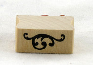 Tiny Flourish Wood Mounted Rubber Stamp Martha Stewart