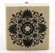 Medallion Flourish Wood Mounted Rubber Stamp Martha Stewart