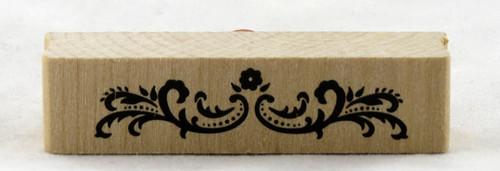 Dotted Border Flourish Wood Mounted Rubber Stamp Martha Stewart