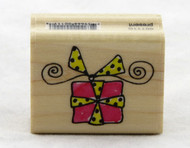 Gift Box Doodle Wood Mounted Rubber Stamp Penny Black