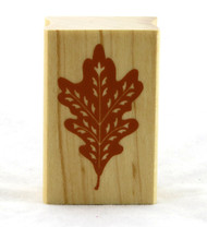Oak Leaf Wood Mounted Rubber Stamp Inkadinkado