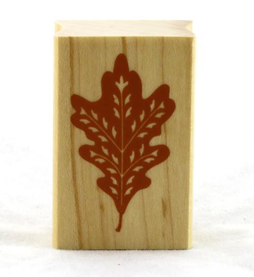 Oak Leaf Wood Mounted Rubber Stamp Inkadinkado