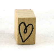 Heart Doodle Wood Mounted Rubber Stamp American Crafts
