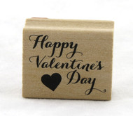 Happy Valentine's Day Wood Mounted Rubber Stamp Martha Stewart