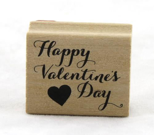 Happy Valentine's Day Wood Mounted Rubber Stamp Martha Stewart