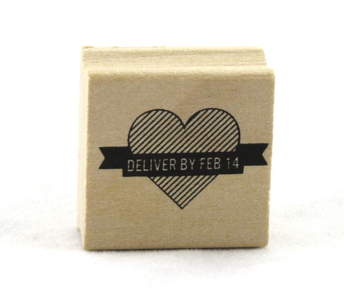Deliver by Feb 14 Heart Wood Mounted Rubber Stamp Martha Stewart