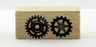 Gears Wood Mounted Rubber Stamp Momenta