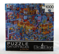 Cat City Blues 1000 Piece Jigsaw Puzzle Bill Bell