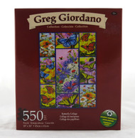 Butterfly Collage 550 Piece Jigsaw Puzzle Greg Giordano