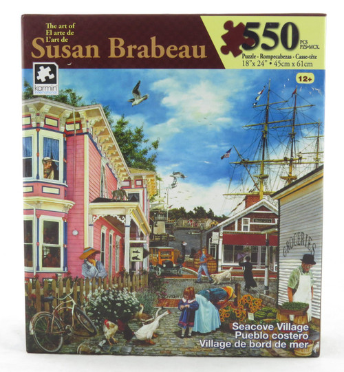 Sea Cove Village 550 Piece Jigsaw Puzzle Susan Brabeau
