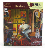 Red Paint 550 Piece Jigsaw Puzzle Susan Brabeau
