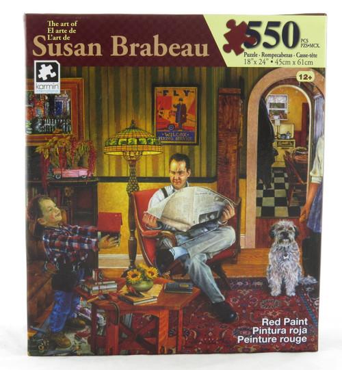 Red Paint 550 Piece Jigsaw Puzzle Susan Brabeau