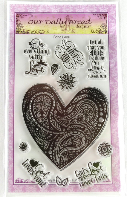 Boho Love Clear Cling Stamp Collection Our Daily Bread