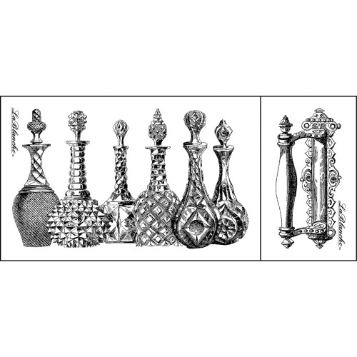 Glass Decanter Set Silicone Mounted Rubber Stamp Set LaBlanche