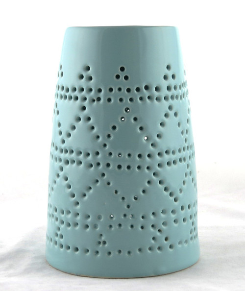 Blue Ceramic Tower Oil Warmer Earthbound Trading