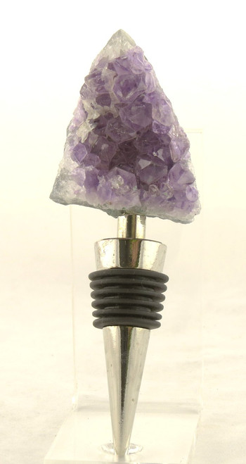 Amethyst Cluster Metal Bottle Stopper Earthbound Trading