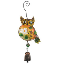 Owl Ornament Metal Hanging Bell