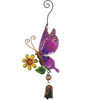 Purple Butterfly Ornament Metal Hanging Bell