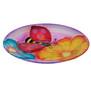 Ladybug Glow Glass Bird Bath Feeder