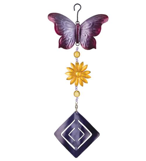 Butterfly Flower Twirly Hanging Garden Spinner