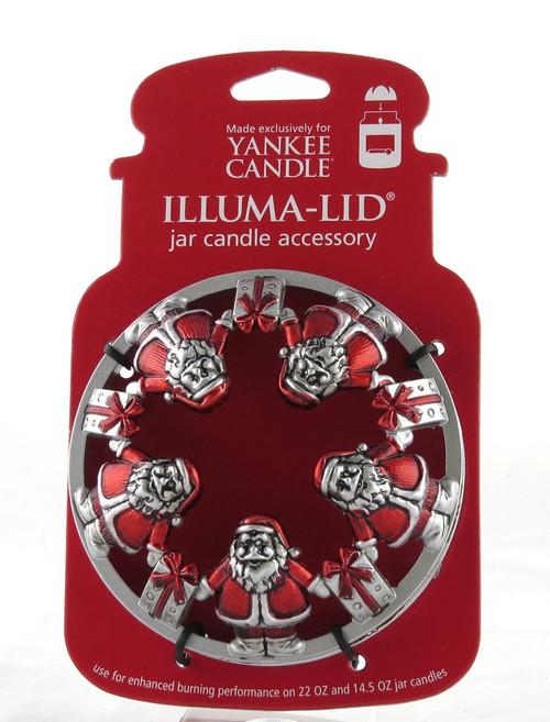 Santa and Gifts Illuma Lid Jar Topper Yankee Candle