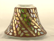 Autumn Inspirations Lyrical Leaves Mosaic Glass Jar Shade Yankee Candle