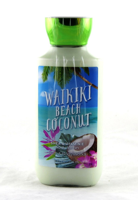 Waikiki Beach Coconut Body Lotion Bath and Body Works 8oz