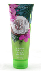 Waikiki Beach Coconut Ultra Shea Body Cream Bath and Body Works 8oz