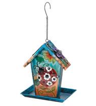 Ladybug Solar Lantern Hanging Bird Feeder