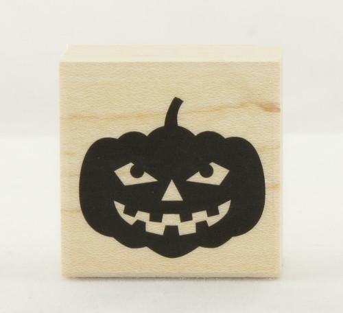Classic Jack O'Lantern Pumpkin Wood Mounted Rubber Stamp Hero Arts