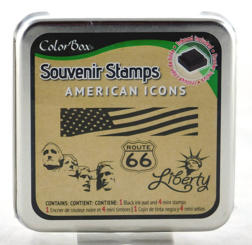 American Icons Foam Mounted Rubber Stamp & Ink Pad Collection Colorbox