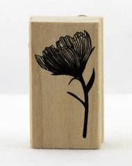 Flower & Stem Wood Mounted Rubber Stamp Martha Stewart