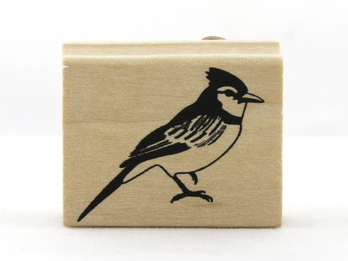 Blue Jay Bird Wood Mounted Rubber Stamp Martha Stewart