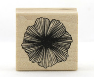 Hardy Hibiscus Flower Wood Mounted Rubber Stamp Martha Stewart