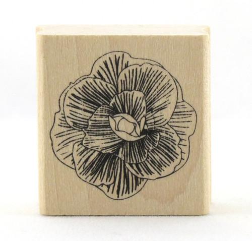 Dahlia Flower Wood Mounted Rubber Stamp Martha Stewart