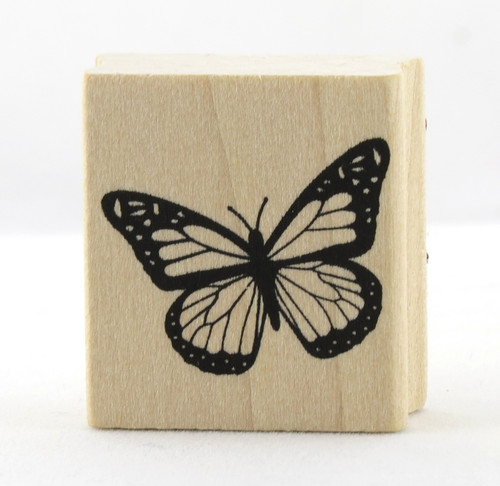 Butterfly Wood Mounted Rubber Stamp Martha Stewart