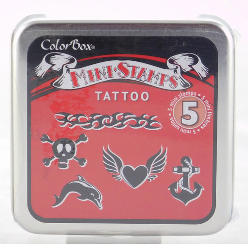 Tattoo Mini Foam Mounted Rubber Stamp Collection Colorbox