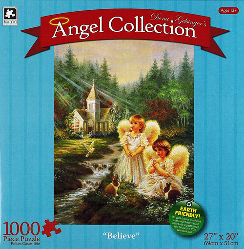 Believe 1000 Piece Jigsaw Puzzle Dona Gelsinger Angel Collection