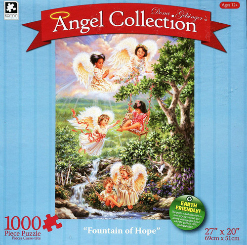 Fountain Of Hope 1000 Piece Jigsaw Puzzle Dona Gelsinger Angel Collection