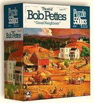 Good Neighbors 550 Piece Jigsaw Puzzle Bob Pettes