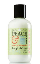 Peach Honey Almond Body Lotion Travel Size Bath and Body Works 3.4oz