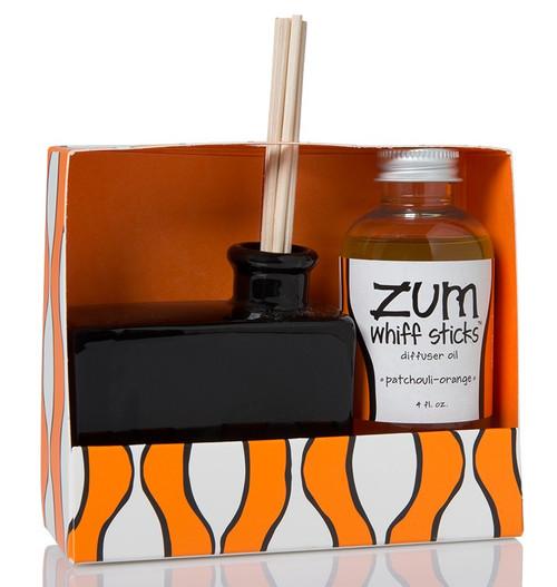 Patchouli Orange Zum Whiff Stick Diffuser Set Indigo Wild