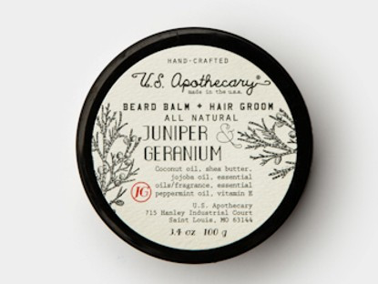 uniper Geranium Beard Hair Grooming Balm U.S. Apothecary 3.4oz